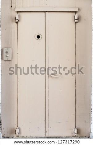 old elevator door - stock photo