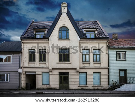 Old empty house - stock photo