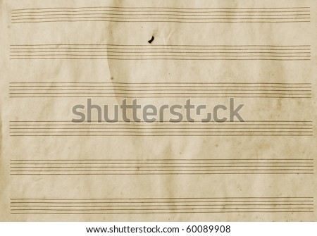 Old empty music paper - stock photo
