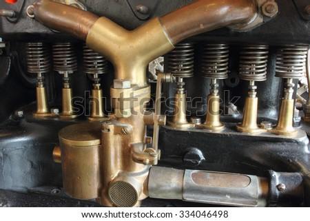 old engine - stock photo