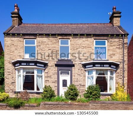Old english house - stock photo