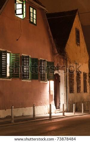 Old European houses - stock photo