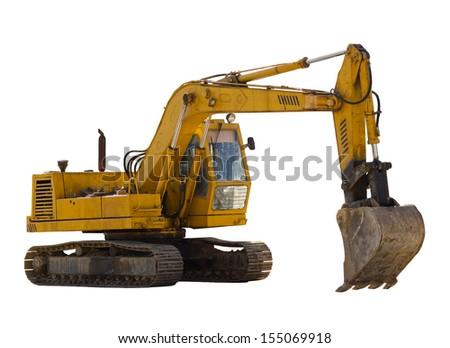 Old excavator - stock photo