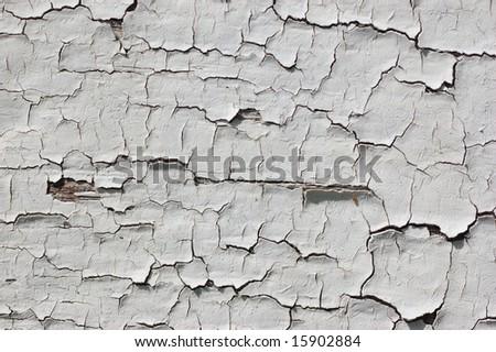 Old exfoliating paint - stock photo