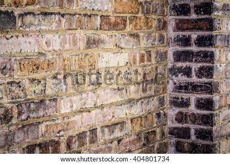 Old Exterior Brick wall texture - stock photo