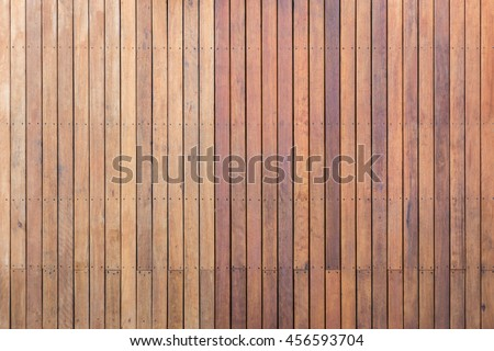 Old exterior wooden decking or flooring on the terrace