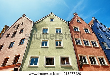old facade at fuessen in germany - bavaria