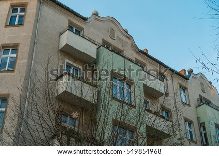 old facaded apartment building with some balconies