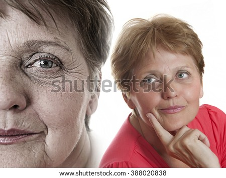old face - stock photo