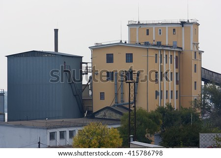 Old factory for the production of flour