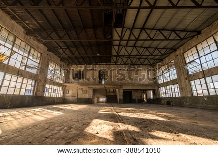 Old factory, rubber factory, China - stock photo