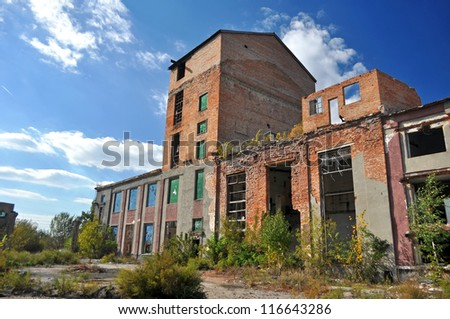 old factory ruins