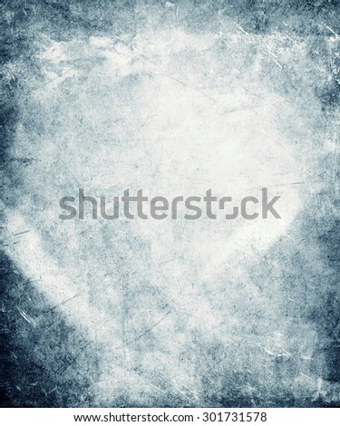 old faded blue paper texture - stock photo