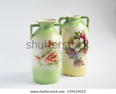 Old faience vases secession