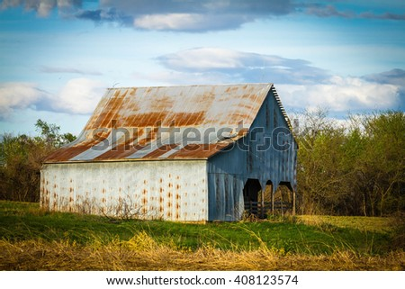 Old Farm Barn - stock photo