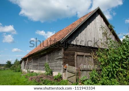 old farm building - stock photo