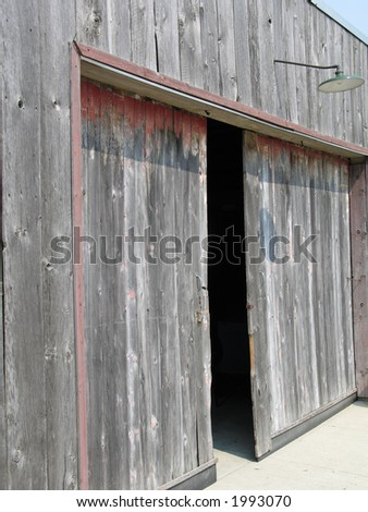 old farm doors
