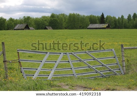 Old farm enterance - stock photo