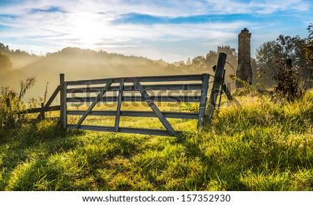 Old Farm Gate  - stock photo