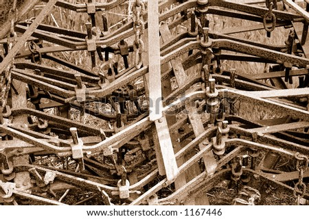 Old farm machinery - stock photo