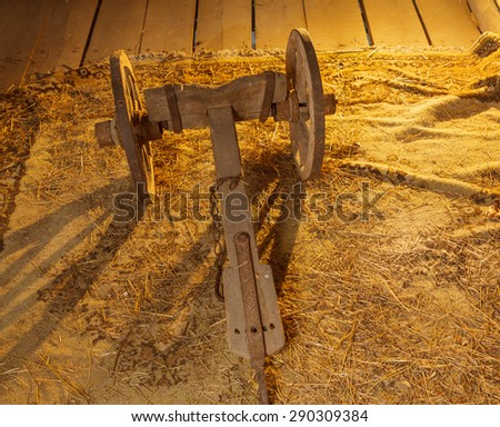 Old farming equipment - stock photo