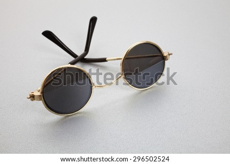 Old Fashion Sunglasses close up shot - stock photo