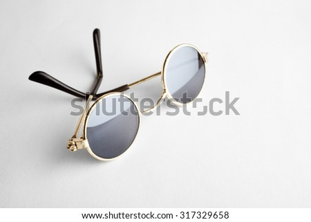 Old Fashion Sunglasses close up shot - stock photo