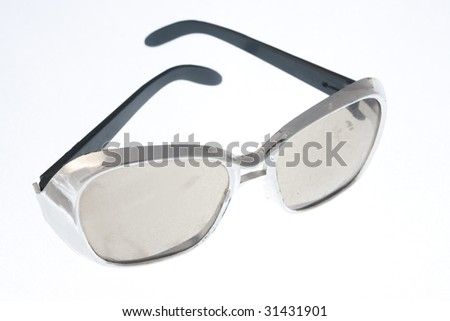 old fashion sunglasses isolated on white