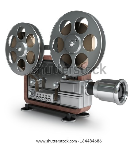 Picture of old fashioned movie projector 33