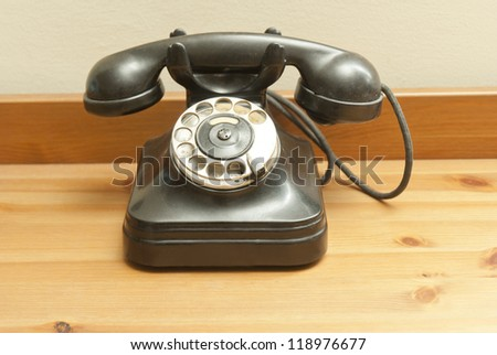 old fashioned classic rotary phone