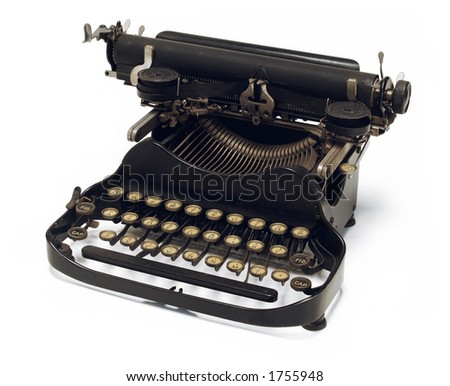 old fashioned, Corona typewriter - stock photo