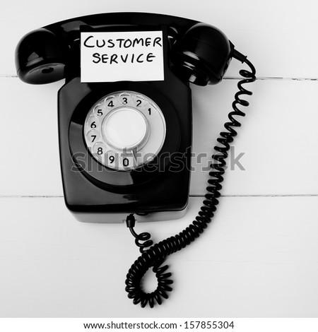 Old fashioned customer service concept - stock photo