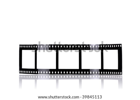 old fashioned film-like photo frames, isolated on white