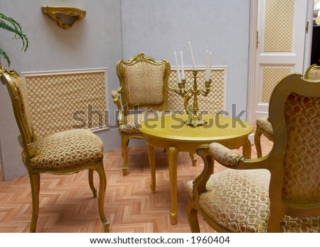 Old Fashioned Living Room With Mozart Style Seats