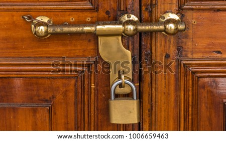 Old fashioned locks for door 41