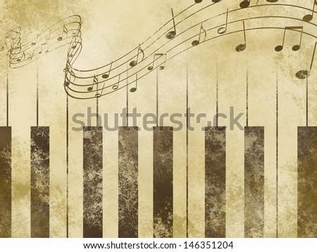 old fashioned music background - stock photo