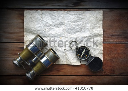 Old fashioned objects. Sea themes. - stock photo