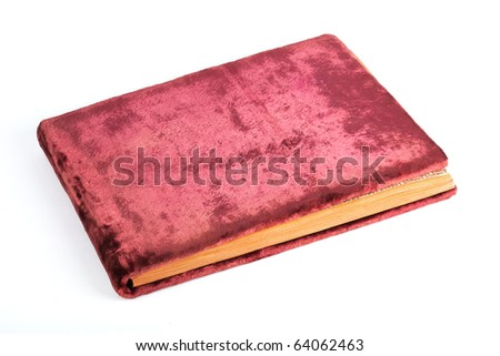 old fashioned photo album image isolated on a white background
