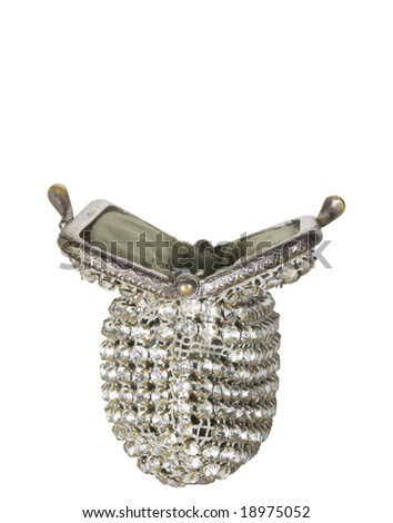 Old-fashioned Purse, isolated with Clipping Path - stock photo