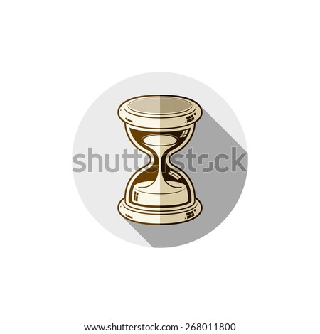 Old-fashioned simple 3d hourglass, time management business icon. Time is running out conceptual symbol. - stock photo