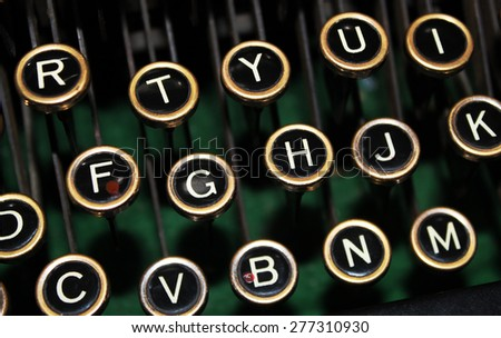 Old Fashioned Typewriter Keys