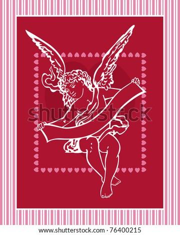 Old-Fashioned Valentine - Raster Version - stock photo