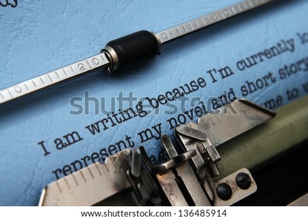 Old fashioned vintage typewriter - stock photo