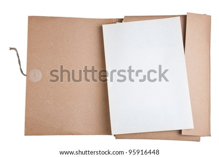 old file with blank paper - stock photo