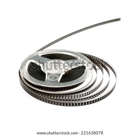 Old film.  Coil. Isolated. - stock photo