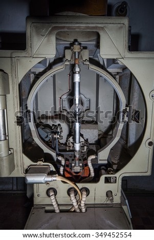 old film projector lamp - stock photo