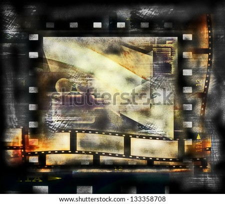 Old film strip frame background - stock photo