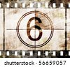 old film strip with some spots - stock vector