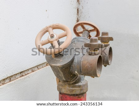 Old Fire hydrant that do not maintenance and operation - stock photo