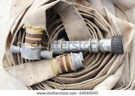 old fire protection equipment - stock photo